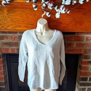Gap off white 3/4 sleeve sweater size medium